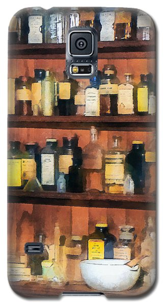 Galaxy S5 Case featuring the photograph Pharmacist - Mortar Pestles And Medicine Bottles by Susan Savad