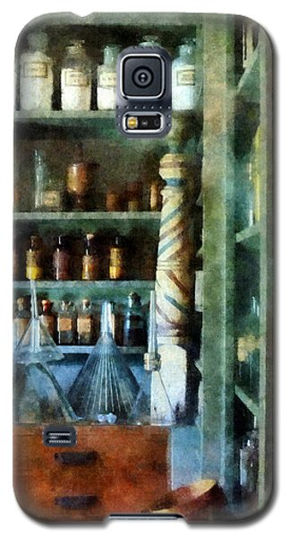 Galaxy S5 Case featuring the photograph Pharmacy - Back Room Of Drug Store by Susan Savad