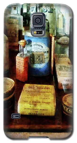Galaxy S5 Case featuring the photograph Pharmacy - Cough Remedies And Tooth Powder by Susan Savad