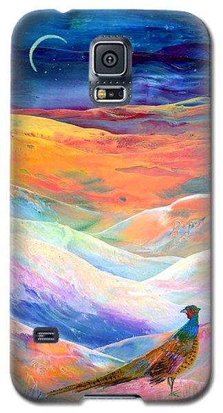 Pheasant Galaxy S5 Case - Pheasant Moon by Jane Small