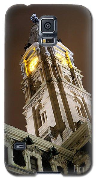 Philadelphia City Hall Clock Tower At Night Galaxy S5 Case