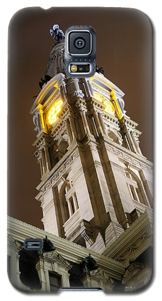 Philadelphia City Hall Clock Tower At Night Galaxy S5 Case