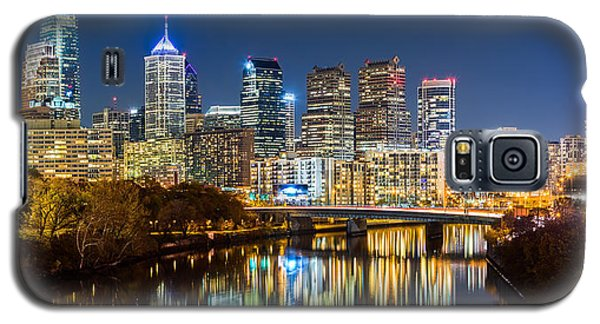 Philadelphia Cityscape Panorama By Night Galaxy S5 Case