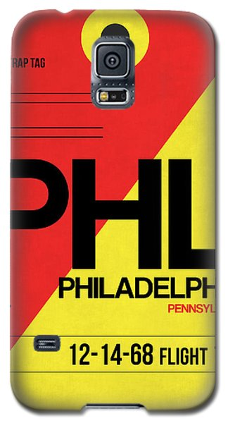 Philadelphia Luggage Poster 2 Galaxy S5 Case by Naxart Studio