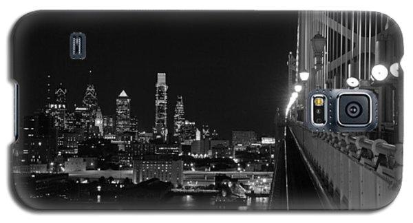 Philadelphia Night B/w Galaxy S5 Case by Jennifer Ancker
