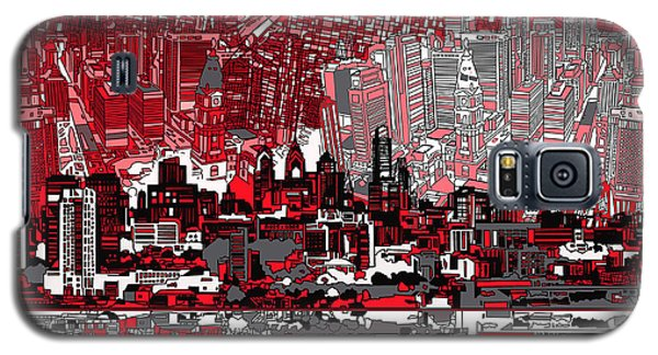 Philadelphia Skyline Abstract 4 Galaxy S5 Case