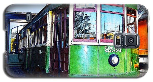 Galaxy S5 Case featuring the photograph Philadelphia Trolley Car C1926 by A Gurmankin