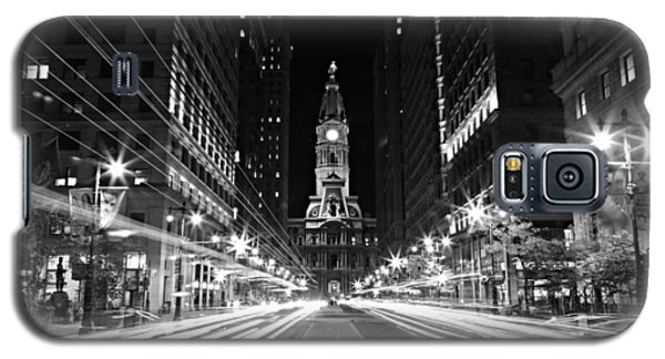 Philadephia City Hall -- Black And White Galaxy S5 Case by Stephen Stookey