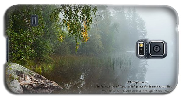 Philippians 4 Verse 7 Galaxy S5 Case by Rose-Maries Pictures