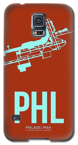 Phl Philadelphia Airport Poster 2 Galaxy S5 Case by Naxart Studio