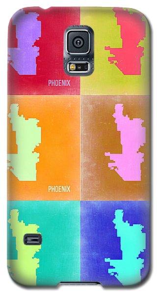 Phoenix Pop Art Map 3 Galaxy S5 Case by Naxart Studio