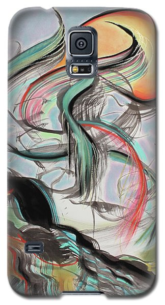 Galaxy S5 Case featuring the painting Phoenix Rising by Asha Carolyn Young