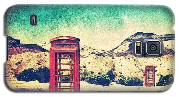 #phone #telephone #box #booth #desert Galaxy S5 Case by Jill Battaglia