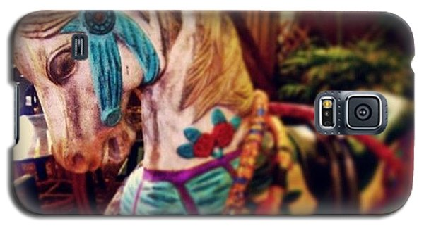 Decorative Galaxy S5 Case - Blue Heaven Carousel Horse by Dani Hoy