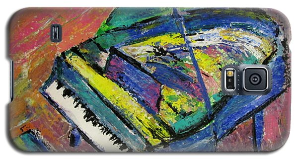 Piano Blue Galaxy S5 Case