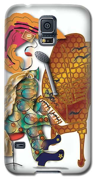 Galaxy S5 Case featuring the digital art Piano Man by Marvin Blaine