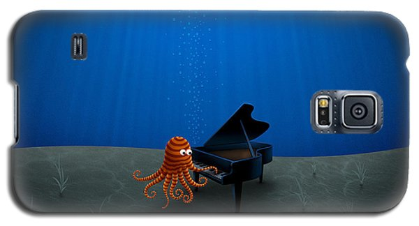 Piano Playing Octopus Galaxy S5 Case