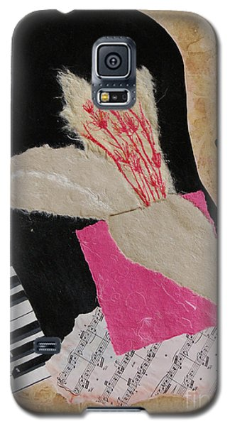 Galaxy S5 Case featuring the painting Piano Still Life by Mini Arora