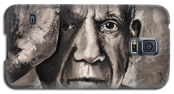 Galaxy S5 Case featuring the painting  Portrait Of Pablo Picasso by Maja Sokolowska