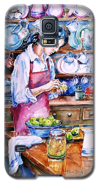 Galaxy S5 Case featuring the painting Pickling Pears  by Trudi Doyle