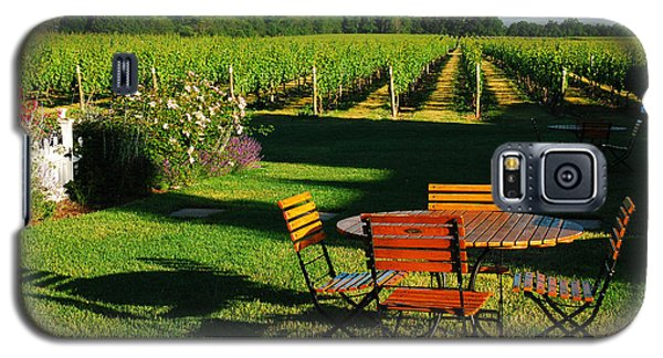 Picnic In The Vineyard Galaxy S5 Case by James Kirkikis