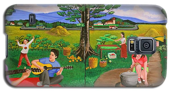 Picnic With The Farmers And Playing Melodies Under The Shade Of Trees Galaxy S5 Case