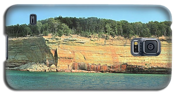 Pictured Rocks Sunlight And Shadows Panorama Galaxy S5 Case by Bill Woodstock