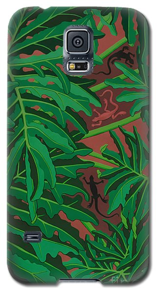 philodendron pictures - Lizard Leaves Galaxy S5 Case