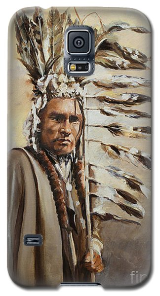 Piegan Warrior With Coup Stick Galaxy S5 Case