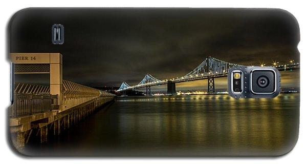 Pier 14 And Bay Bridge At Night Galaxy S5 Case