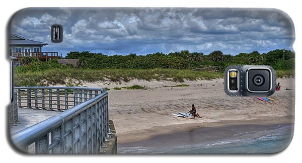 Galaxy S5 Case featuring the photograph Pier At Sebastian Inlet by Timothy Lowry