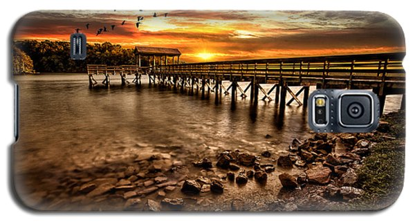 Galaxy S5 Case featuring the photograph Pier At Smith Mountain Lake by Joshua Minso