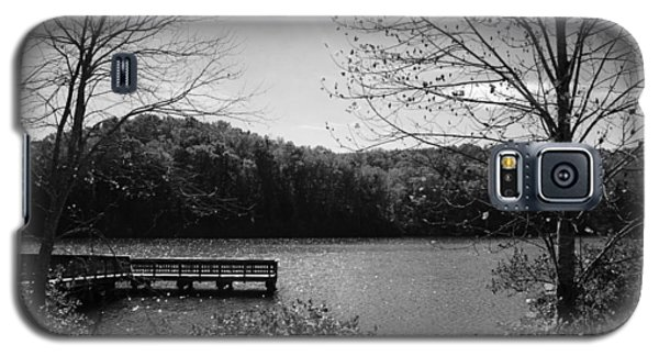Pier At Table Rock In Black And White Galaxy S5 Case