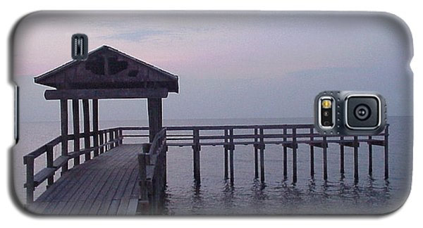 Pier Early Morning 1 Galaxy S5 Case by D Wallace