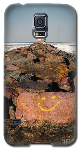 Galaxy S5 Case featuring the photograph Pier Happiness by Mark David Zahn