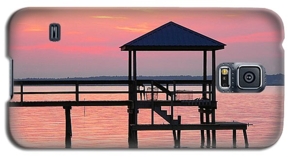 Pier In Pink Sunset Galaxy S5 Case