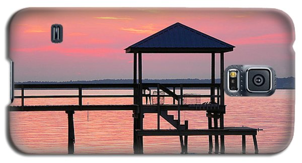 Pier In Pink Sunset Galaxy S5 Case