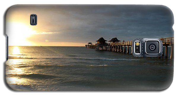 Pier Sunset Naples Galaxy S5 Case by Christiane Schulze Art And Photography