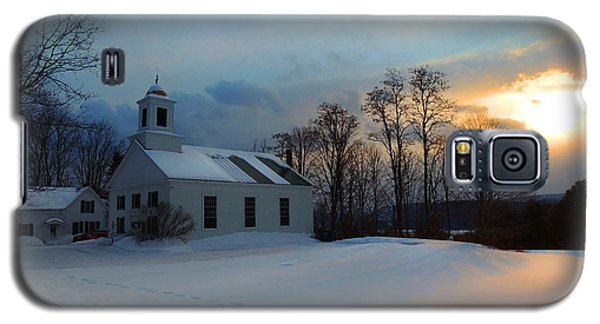 Piermont Church In Winter Light Galaxy S5 Case by Nancy Griswold