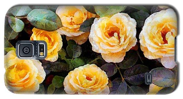 Pierre's Peach Roses Galaxy S5 Case