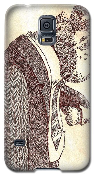 Pig In Suit Galaxy S5 Case by Larry Campbell