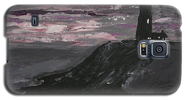 Pigeon Lighthouse Impasto Sunset Monochromatic Galaxy S5 Case