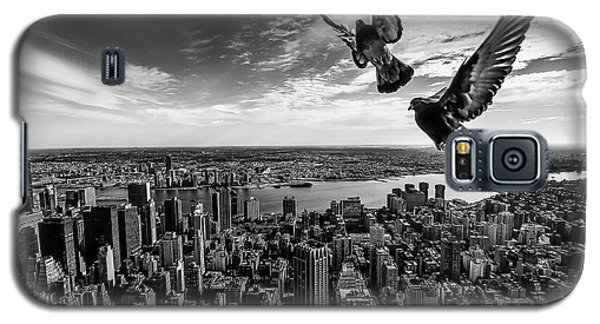 Pigeons On The Empire State Building Galaxy S5 Case