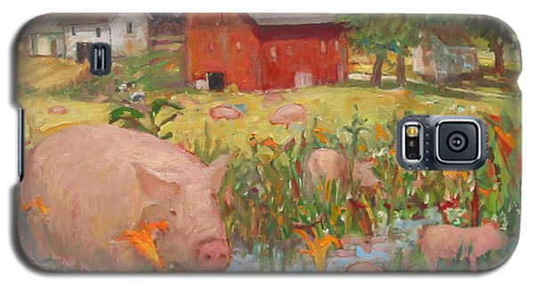 Pigs And Lilies Galaxy S5 Case