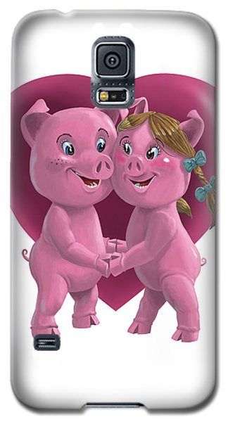 Pigs In Love Galaxy S5 Case