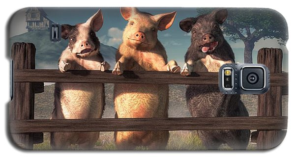 Pigs On A Fence Galaxy S5 Case