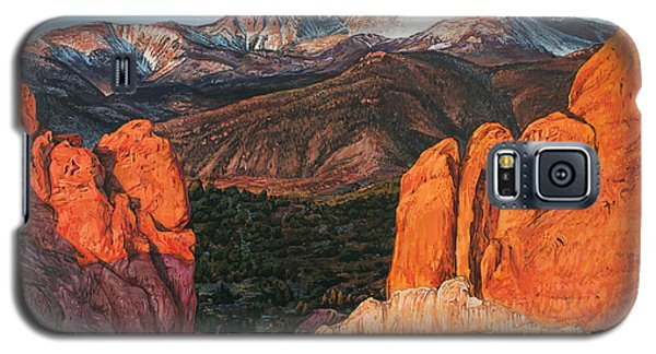 Galaxy S5 Case featuring the painting Pikes Peak by Aaron Spong