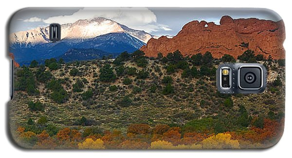 Galaxy S5 Case featuring the photograph Pikes Peak Fall Pano by Ronda Kimbrow