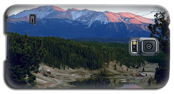 Pikes Peak Sunset Galaxy S5 Case by Marilyn Burton