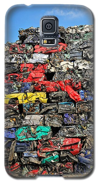 Pile Of Scrap Cars On A Wrecking Yard Galaxy S5 Case